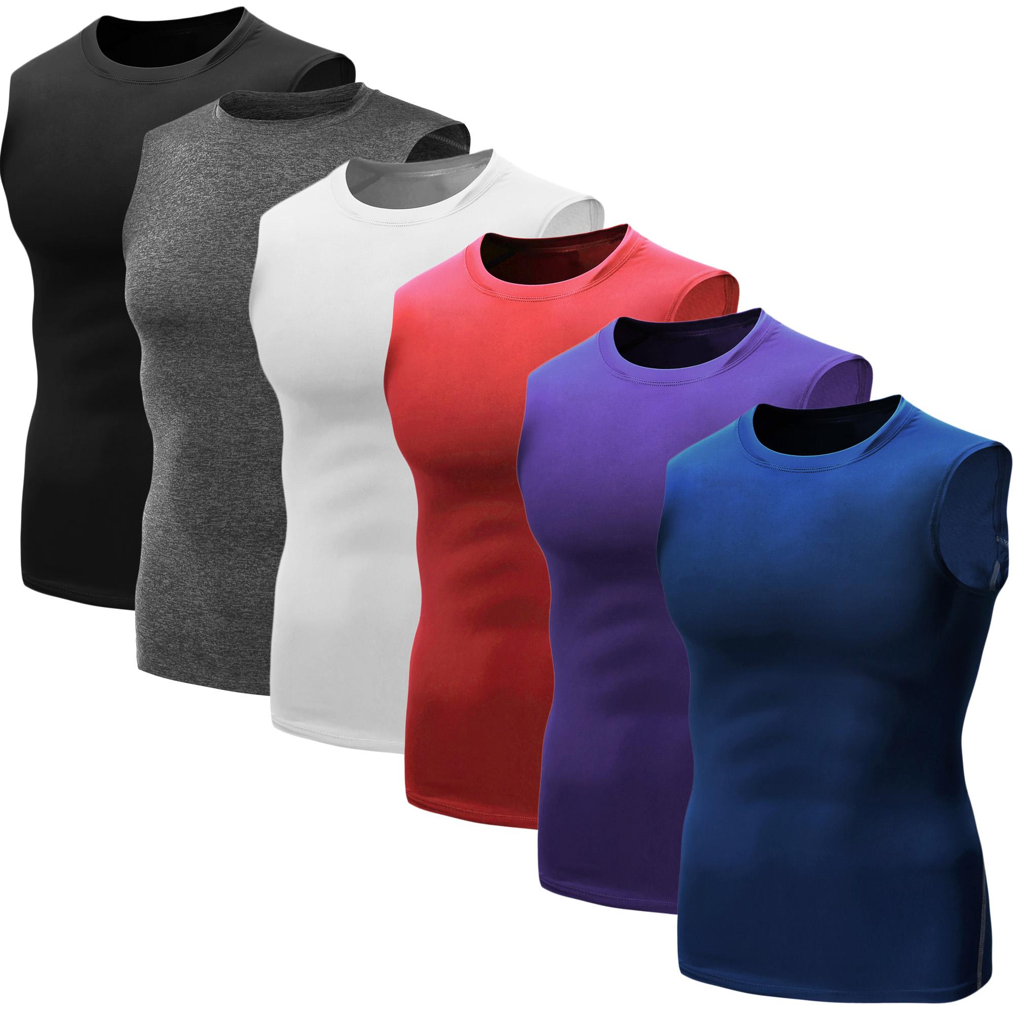 e694ef7722e Neleus Men s 3 Pack Athletic Compression Sport Short Sleeve Shirt