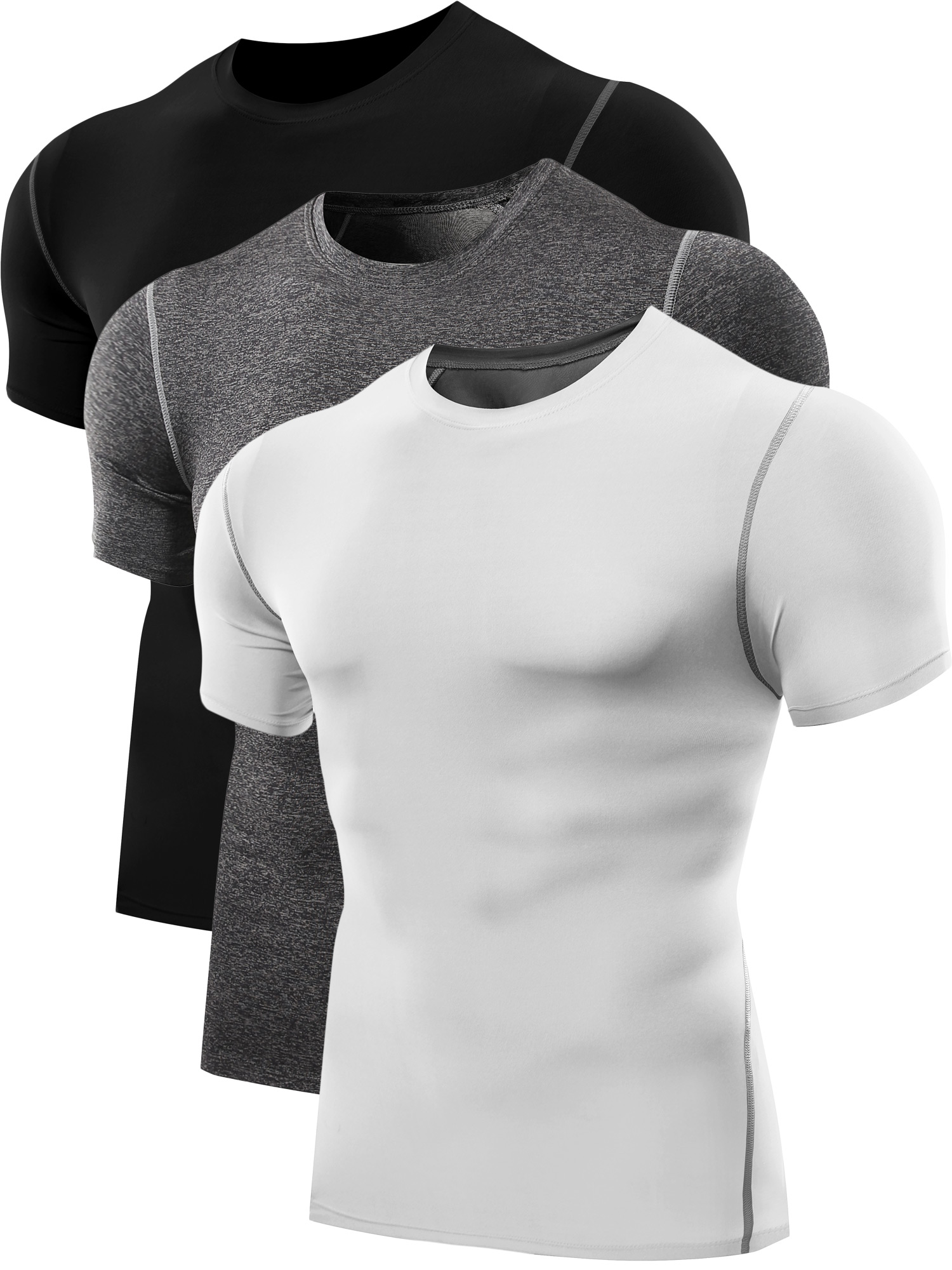 0b6f8985b5 ... Neleus Men's 3 Pack Athletic Compression Under Base Layer Sport Shirt  DT0003 ...